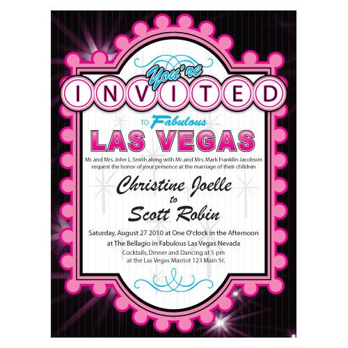 Montreal Wedding Invitations: Las Vegas Invitation