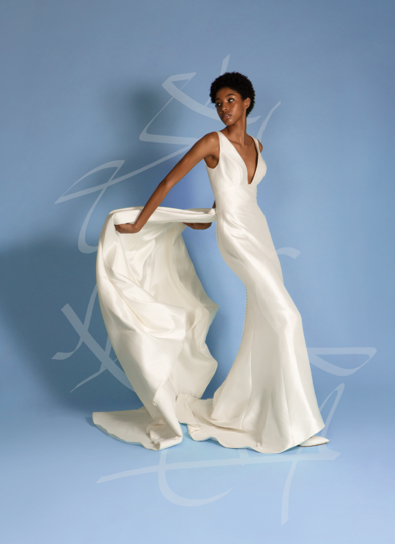 Dress: Justin Alexander